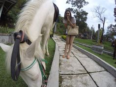 Take a pic with cutehorse for this sunday, why not? She's so cutie..
