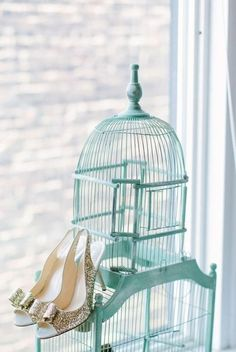 @Alaina Marie Kaczmarski Chicago Apartment Tour // living room // bird cage // @Kat Ellis spade new york heels // photography by Stoffer Photography