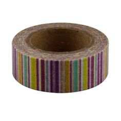 Lychee Craft Color Vertical Stripes Washi Decorative Tape DIY Masking Sticker * You can find more details by visiting the image link.