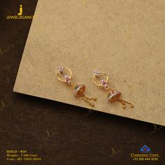 Tornito 7 Pairs Stainless Steel Stud Earrings Round Cubic Zirconia Earring Set For Men Women Pairs, Rose Gold Tone,Flat Back) – Fine Jewelry & Collectibles Gold Jhumka Earrings, Jewelry Design Earrings, Kids Earrings, Gold Earrings Designs, Jhumka Designs, Gold Jewellery, Ring Designs, Pendant Jewelry, Gold Necklace