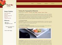 Fruit Mix – Blogger Template