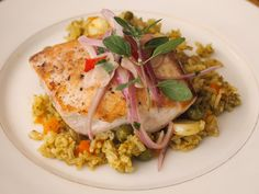Peruvian Green Rice with Fish // Peru Delights