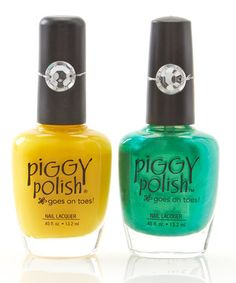 Love this Lemonade Five Cents & Lily's Pad Nail Polish Set on #zulily! #zulilyfinds