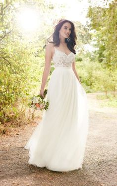 Britt + Sawyer Romantic Boho Wedding Dress Separates by Martina Liana. Find this dress at Janene's Bridal Boutique located in Alameda, Ca. Contact us at (510)217-8076 or email us info@janenesbridal.com for more information.