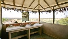 How's this for a bathroom? Lamai Serengeti Camp in the Serengeti National Park, Northern Tanzania.