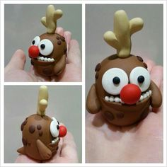 Sculpey fimo polymer clay Reindeer Monster