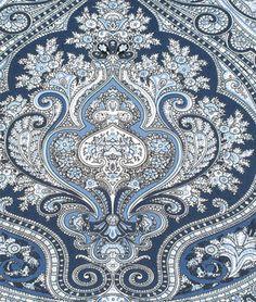 Ralph Lauren Ashbourne Paisley Blue Fabric : $55/Yd