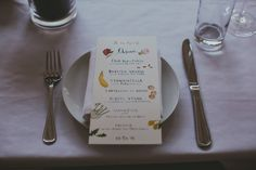 Happy Menocal created our invitations and menus and she was such a dream to work with! She drew an image of our dog on the RSVP cards and that meant so much to Keith and me. I also really loved the little drawings of the food on the menu.