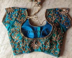 Colorful Zardosi Blouse Designs