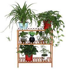 3 Tier Bamboo Shelf Unit Storage Home Bath Plant Stand Shoes Rack Shelves Garage
