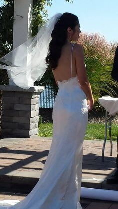 """Nothing like a happy bride. Juliarose wore """"Breathless"""" gown by sarah Jassir."""