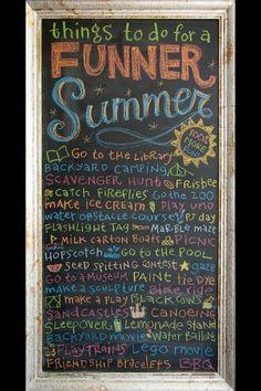 Cute summer to do list!!