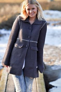Odd Molly's classic Crochet Grandma's Coat sold by boutique Girl Next Door on FabulousLiving.se