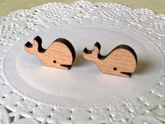 Wood earrings wood jewelry laser cut earrings mini by MonJoliBois