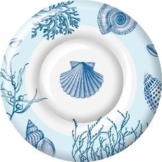 Amazon.com: Ideal Home Range 8 Count Boston International Round Paper Dessert Plates, Shore Thing: Kitchen & Dining