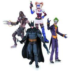 Batman ArkhamAsylum Joker Harley Batman Scarecrow Action Figure 4-Pack *Presale