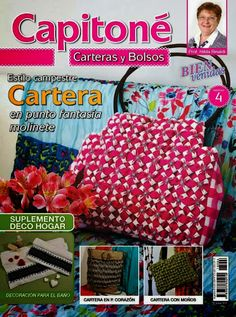 Smocked bags and purses {Capitone Carteras y bolsos} Nº. 4 {in Spanish} Punto Smok, Canadian Smocking, Sewing Magazines, Crochet Books, Bargello, Fabric Manipulation, Book Crafts, Craft Books, Free Sewing