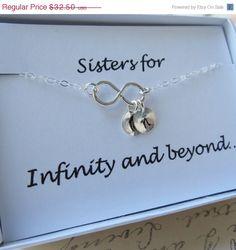 ON SALE Sister Necklace & Card SETSister Infinity by lizix26