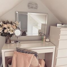 Every girl dreams of the perfect dressing table to do her hair do her makeup. A whole load of drawers full of the. Dressing Table Decor, White Dressing Tables, Dressing Room Design, Bedroom Dressing Tables, Ikea Dressing Room, Simple Dressing Table, Ikea Malm Dressing Table, Dressing Table Vanity, Room Ideas Bedroom