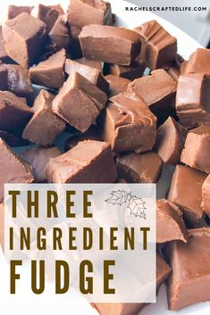 A creamy, delicious three ingredient fudge that is an absolute crowd pleaser. Complete with testimonials from multiple reliable food sources. Quick Fudge Recipe, Fudge Recipes, Easy Recipes, Cream Cheese Fudge Recipe, Sweet Recipes, Baking Recipes, Easy Chocolate Fudge, Chocolate Desserts, Easy Fudge