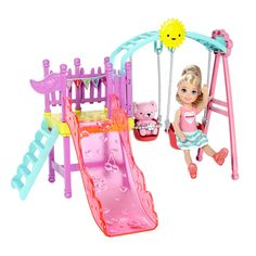 Check out the Barbie Club Chelsea Swingset at the official Barbie website. Explore the world of Barbie today! Mattel Barbie, Barbie Sets, Barbie Dolls, Mattel Shop, Barbie Doll Accessories, Doll Clothes Barbie, Barbie Doll House, Site Da Barbie, Barbie Website