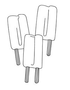 bunches of holiday and seasonal coloring pages - Printable Popsicle Coloring Pages
