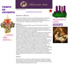ORACIÓN. Diciembre 17º, MIÉRCOLES 2014. 3RA SEMANA DE ADVIENTO ҉҉LOURDES MARÍA BARRETO҉҉
