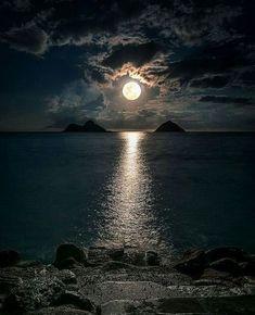 Landscape Diamond Painting Evening Sea View Full Drill Cross Stitch Moon Embroidery Home Decorati – BuzzTMZ Moon Stars, Luna Moon, Moon Moon, Moon Pictures, Beautiful Moon, Good Night Quotes, Third Eye, Night Skies, Night Night
