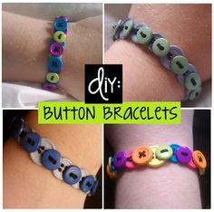 Dabble...: DIY: Button Bracelets  DABBLE IN EVERYTHING