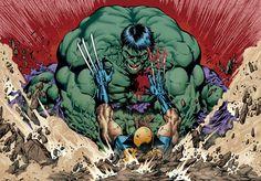 Hulk smash Wolverine...