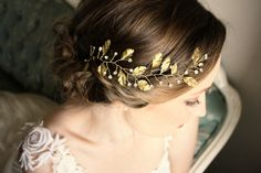 Hair Branch with Rhinestone Accents Hair Vine by AnnaMarguerite, @dpollaci