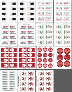 Ultimate Christmas Tag Printable Bundle- Includes tags designed for Mason Jar Christmas Gifts! So cute!!!