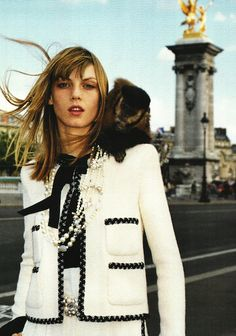 "Angela Lindvall featured in ""Couture"" by Terry Richardson from Vogue Paris, September 2001."