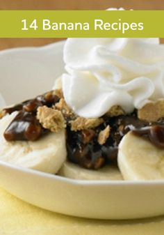 From Chocolate Peanut Butter Banana Smoothies to Banana Pudding Cups, you'll find the right banana recipe for you here!
