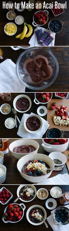 Follow these steps to make a delicious acai bowl.