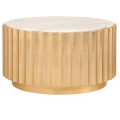 Worlds Away Clove Coffee Table - Gold