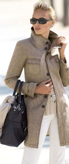 I love the cut and color of this stately coat. I'm a strong believer that an equestrian-inspired jacket is the most important item in a woman's wardrobe.