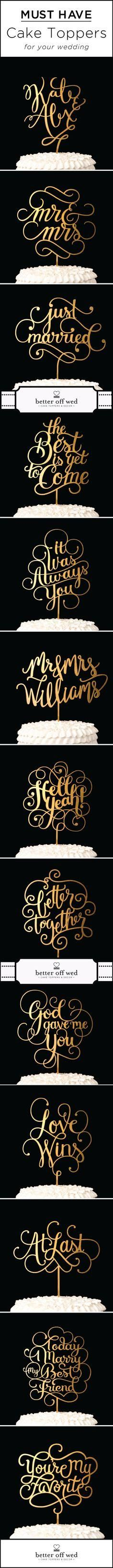 Must have wedding cake toppers for your big day!