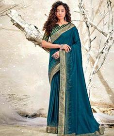 Chanderi Silk Saree Chanderi Silk Saree, Indian Silk Sarees, Lehenga Saree, Saree Blouse, Floral Print Sarees, Bridesmaid Saree, Blue Weave, Casual Saree, Saree Look
