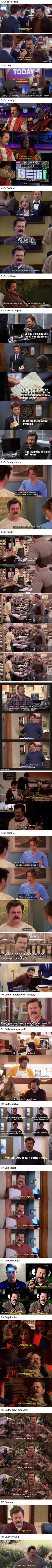 Ron Swanson's Jokes That Are Never Not Funny