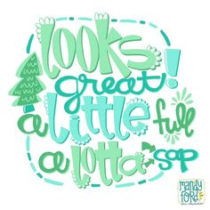 Christmas Vacation quote via Mandy Ford Art & Illustration #handlettering #vectorart #lettering #illustration #surface design