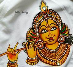 Murals Worli Painting, Saree Painting, Kalamkari Painting, Kerala Mural Painting, Krishna Painting, Indian Art Paintings, Madhubani Painting, Krishna Art, Fabric Painting