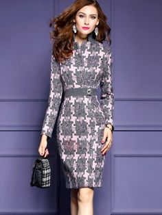Tidebuy.com Offers High Quality Elegant Long Sleeve Women's Bodycon Dress, We have more styles for Bodycon Dresses