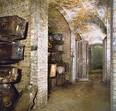 Catacombs underneath London.
