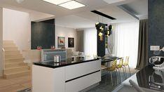 Karat - zdjęcie 7 House Layout Plans, House Layouts, House Plans, Modern Family House, Modern House Design, 2 Storey House Design, Mediterranean Style Homes, Architect House, Facade House