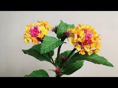 ABC TV | How To Make Lantana Camara Paper Flower From Crepe Paper - Craf...