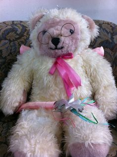 Meet Junie, she's an extraordinaryTeddy Bear. If you're looking for a soft and cuddly children's story, this ISN'T it! So, turn back now if you want to keep your modesty intact.