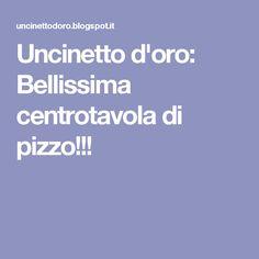 Uncinetto d'oro: Bellissima centrotavola di pizzo!!!
