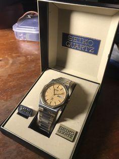 Vintage Seiko Quartz Royal oak Incredibly Rare Two-tone Mens Watch Box/papers