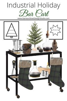 Before I dive into today's post, I want to thank you all from the bottom of my heart for all your love and support this week. Christmas Holiday, Holiday Decor, Christmas Decor, Easy Decorations, Decor Ideas, Blogger Home, Bar Carts, Mad Men, Modern Rustic